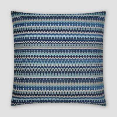 Denmark Indigo Feather Down 20 in. x 20 in. Standard Decorative Throw Pillow