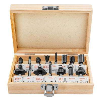 Carbide Starter Router Bit Set (15-Piece)