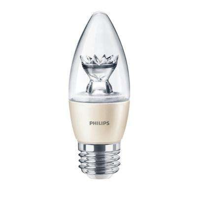 40W Equivalent Soft White (2700K) B13 Dimmable Blunt Tip Candle LED Light Bulb
