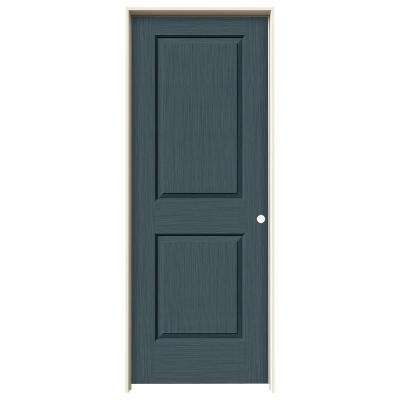 32 in. x 80 in. Cambridge Denim Stain Left-Hand Solid Core Molded Composite MDF Single Prehung Interior Door