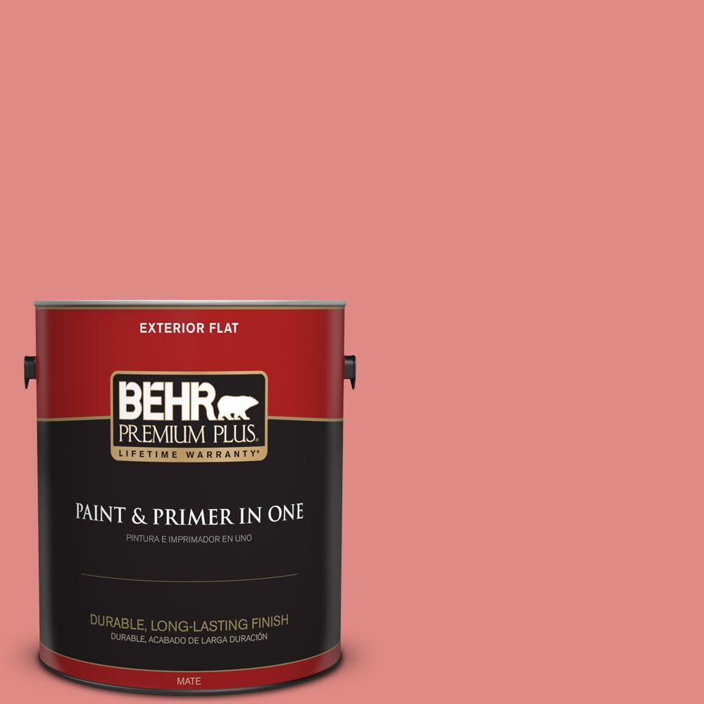 1 gal. #HDC-SP16-12 Begonia Flat Exterior Paint