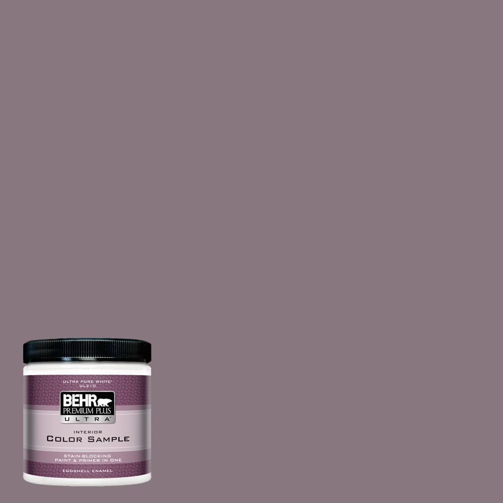 BEHR Premium Plus Ultra 8 oz  #BNC-20 Purple Rubiate Eggshell Enamel  Interior Paint and Primer in One Sample