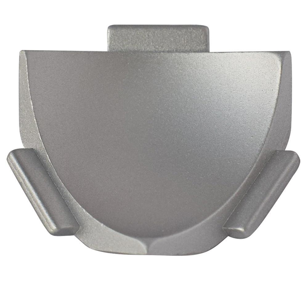 Internal Vert. Angle NS4 Matt Silver 1-1/2 in. x 1-1/2 in. Complement Aluminum Tile Edging Trim