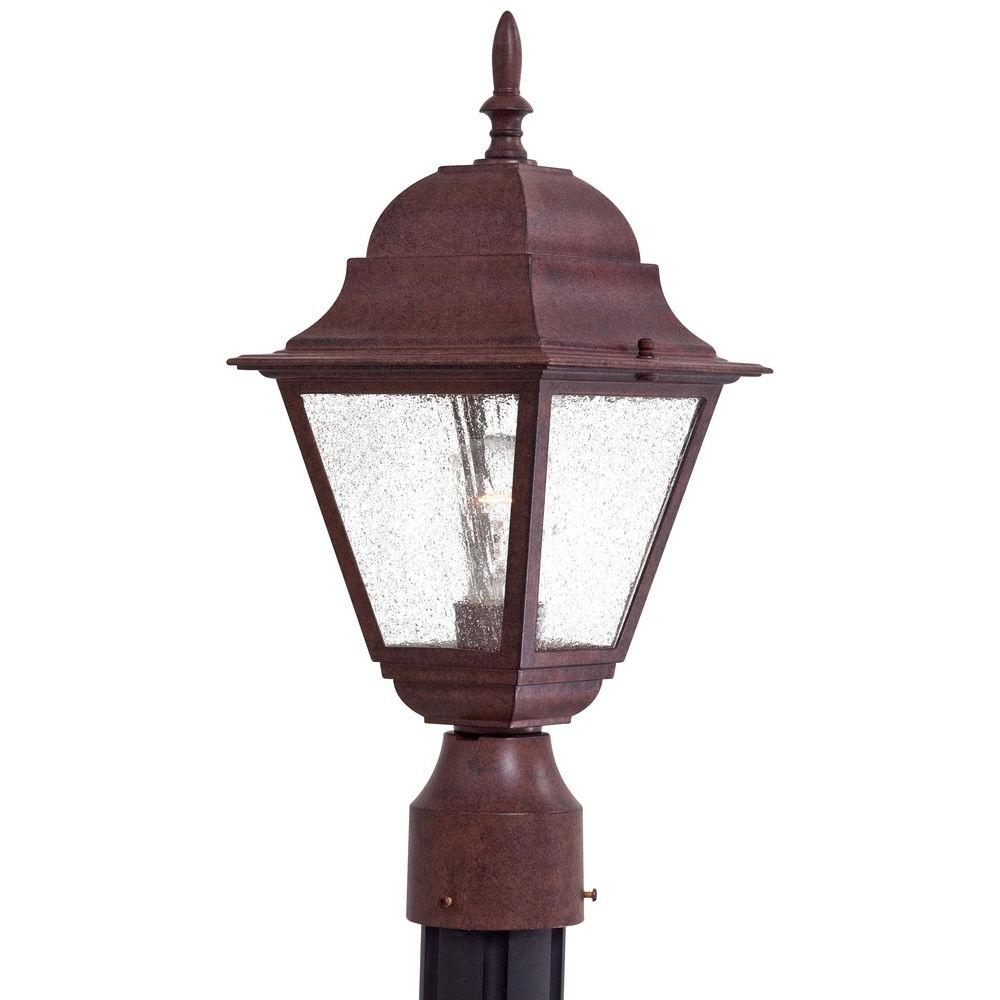 the great outdoors by Minka Lavery Bay Hill 1-Light Outdoor Antique Bronze Post Lantern