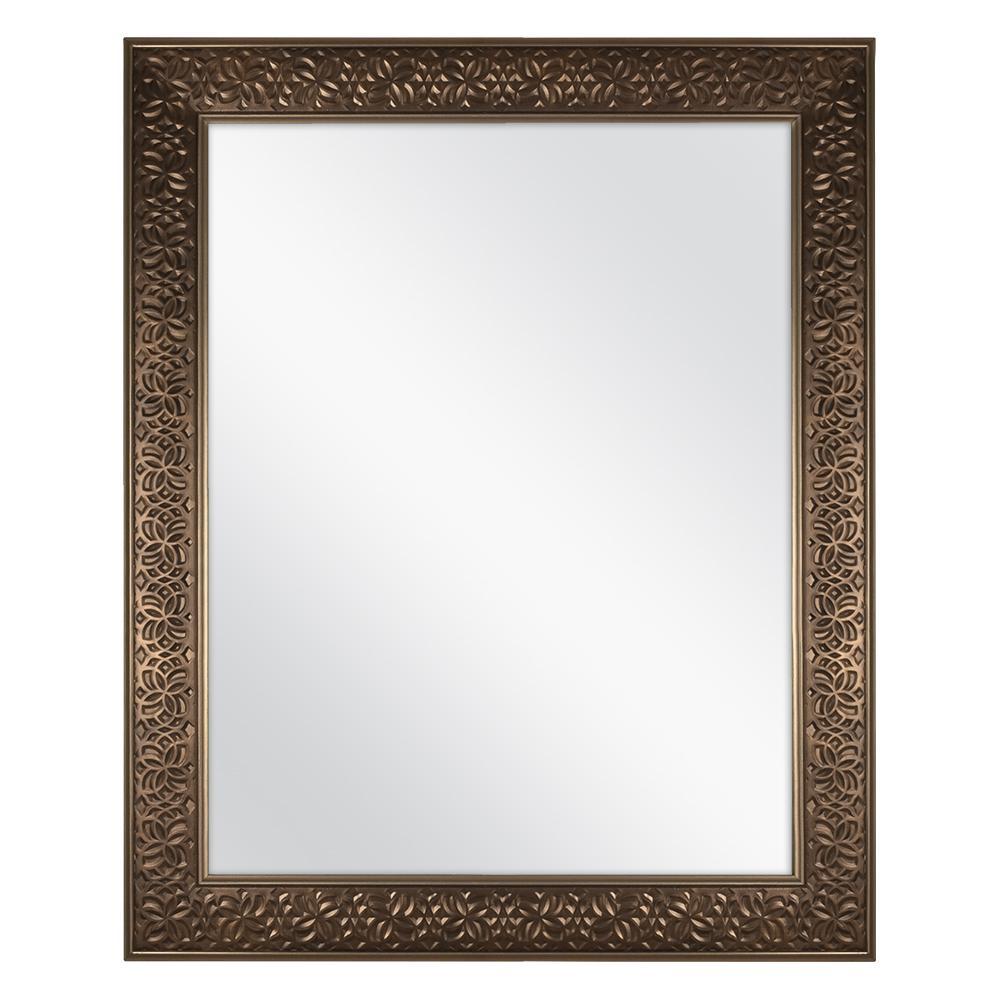 24 in. x 29 in. Framed Fog Free Wall Mirror in Bronze