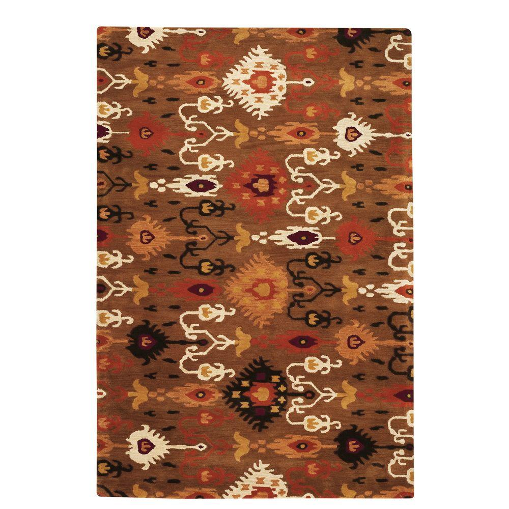 Home Decorators Collection Surrounding Brown 2 ft. x 3 ft. Accent Rug