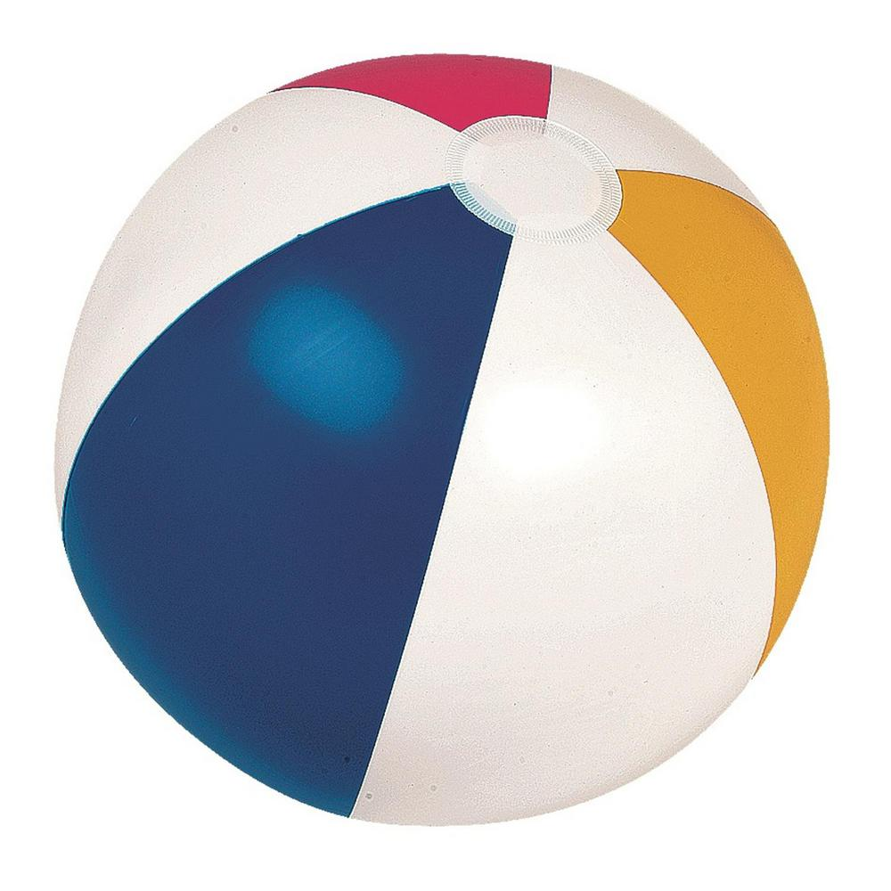 Pool Central 20 in. Classic Inflatable 6-Panel Beach Ball ...