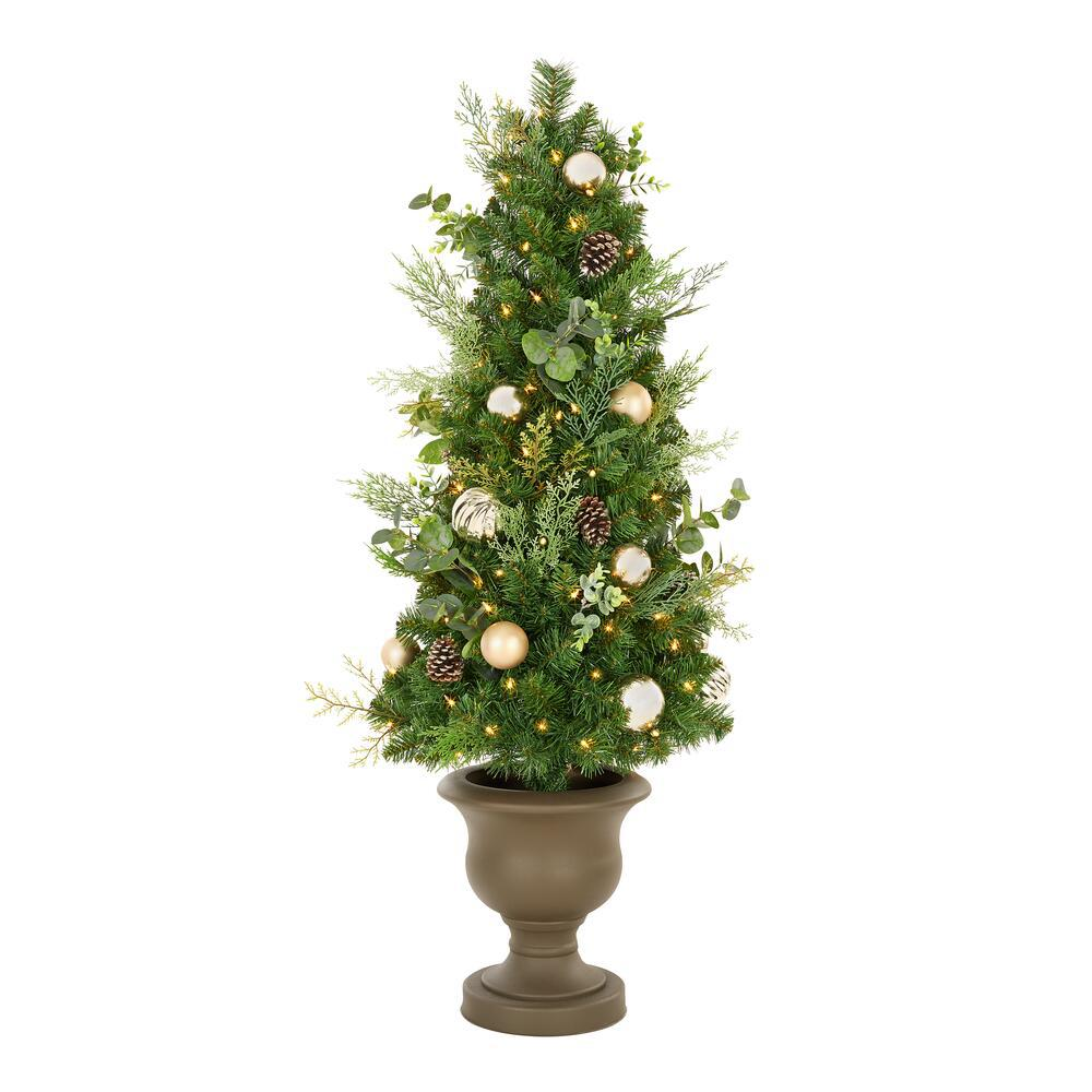Home Accents Holiday 4.5 ft St. Germain Mixed Pine Potted ...