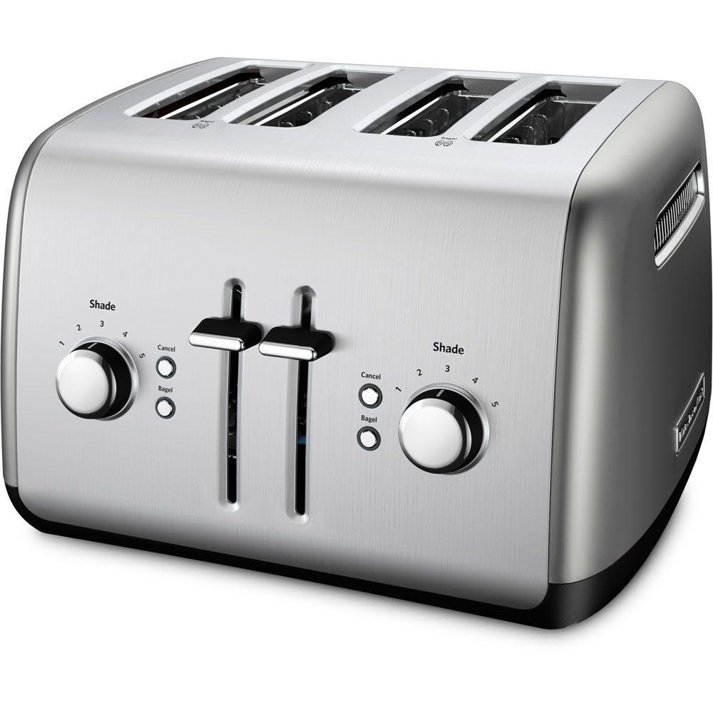 4-Slice Silver Toaster