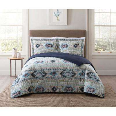 Simone Tribal Blue King Comforter Set