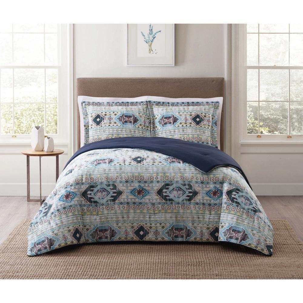 Simone Tribal Blue Twin XL Comforter Set