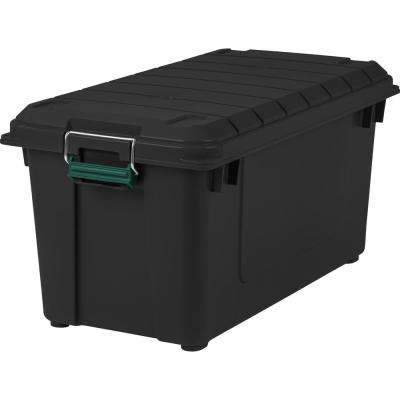 82 Qt. Remington Weathertight Store-It-All Storage Bin in Black (4-Pack)