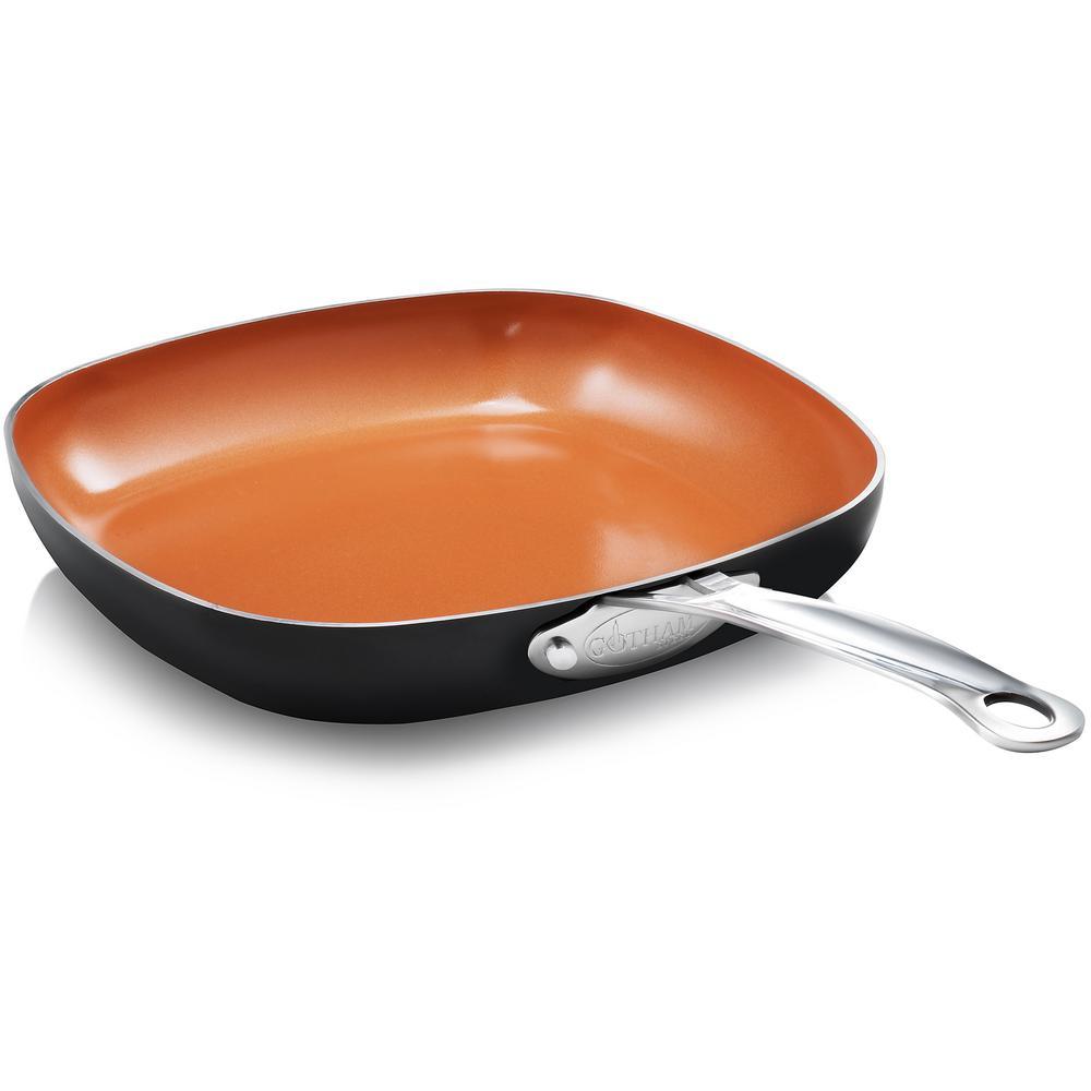 12 in. Non-Stick Ti-Ceramic Shallow Square Fry Pan