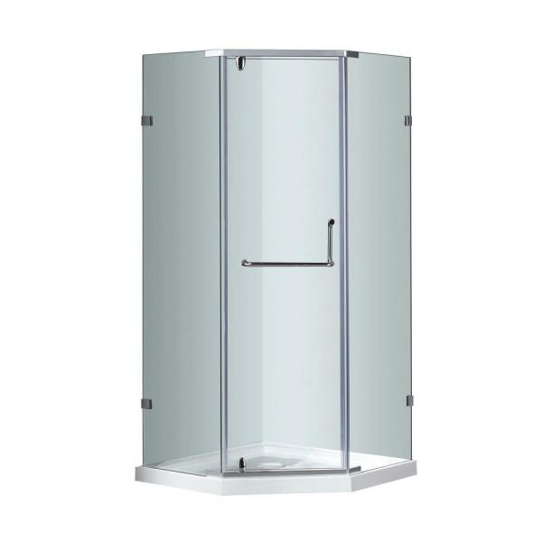 Reviews For Aston Sen973 38 In X 38 In X 77 1 2 In Semi Frameless Neo Angle Shower Enclosure In Chrome With Base Sen973 Tr 38 10 The Home Depot