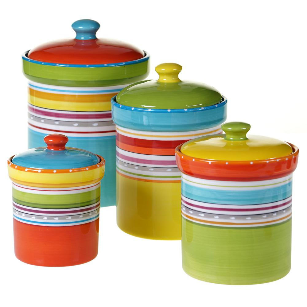 Mariachi Multi-size Multi-color Canister Set (4-Pieces)