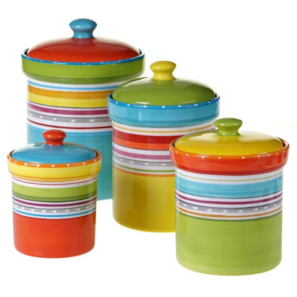 Certified International Mariachi Multi-size Multi-color Canister Set (4-Pieces)