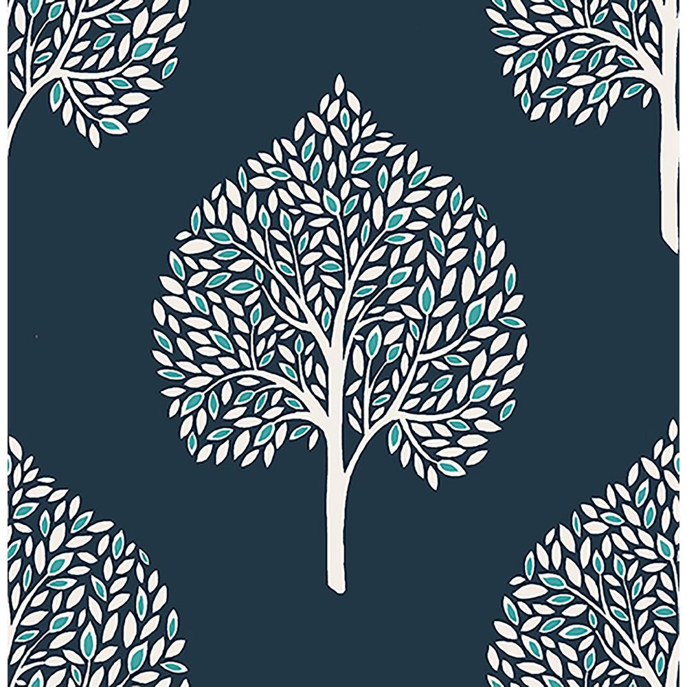 Grove Blue Tree Wallpaper