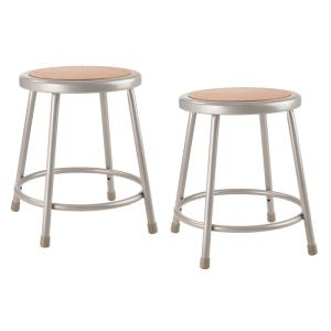 Awe Inspiring National Public Seating 18 In Grey Heavy Duty Steel Stool Pabps2019 Chair Design Images Pabps2019Com