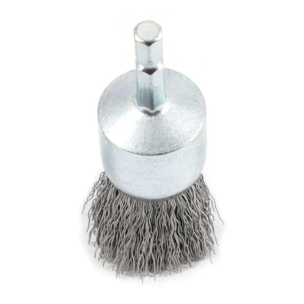 """1/""""  NEW Coarse Crimped with 1//4-Inch Hex Shank Forney 72737 Wire End Brush"""