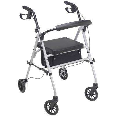 4-Wheel Standard Rollator in Silver