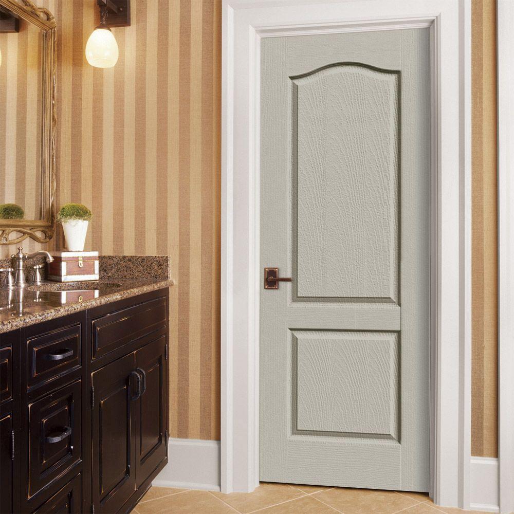 24 in. x 80 in. Camden Desert Sand Right-Hand Textured Solid Core Molded Composite MDF Single Prehung Interior Door