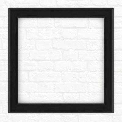 33 in. x 33 in. (L2) Square Mirror Frame in Matte Black