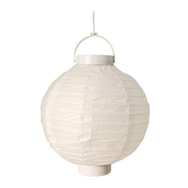 Lumabase Battery Operated Paper Lantern in White (3-Count)