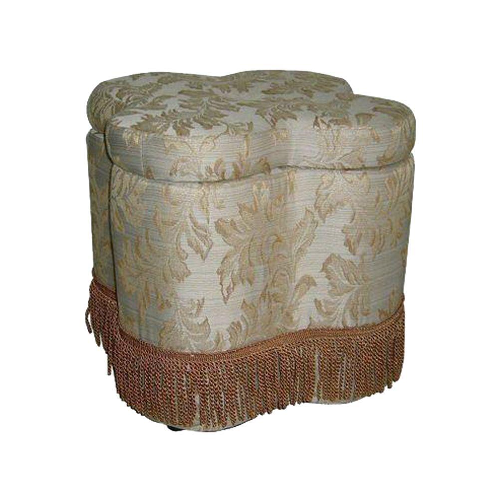 Beige Storage Ottoman