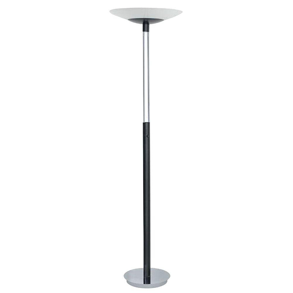 Eglo Turn 71 in. 1-Light Black and Chrome Floor Lamp