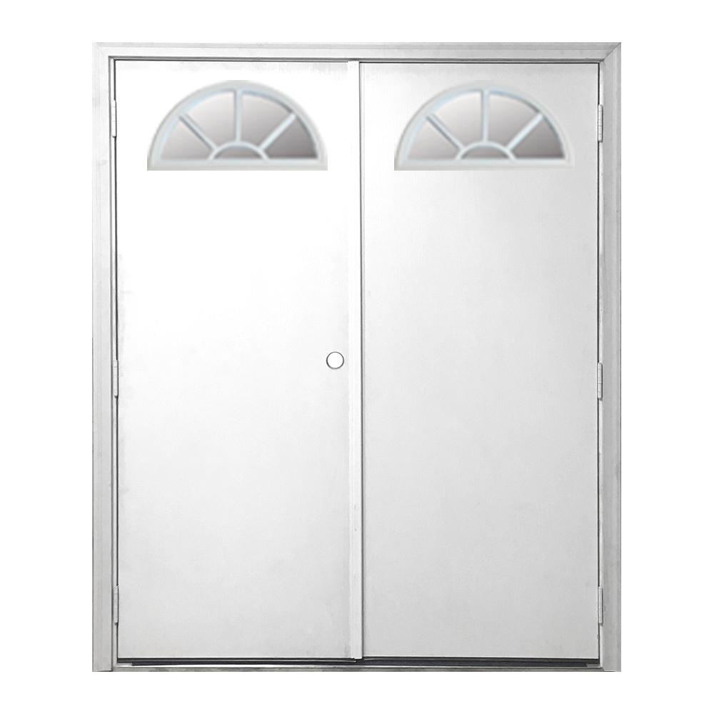 60 in. x 72 in. Garden Shed Fan Lite White Primed