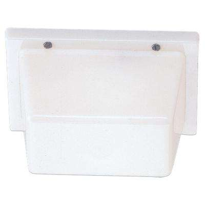 1-Light White Plastic Outdoor Wall/Ceiling Fixture