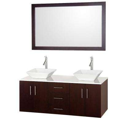 sink on top of vanity. Arrano  50 58 in Bathroom Vanities Bath The Home Depot