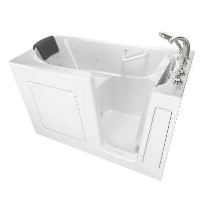 Gelcoat Premium Series 60 in. Right Hand Walk-In Whirlpool Bathtub in White