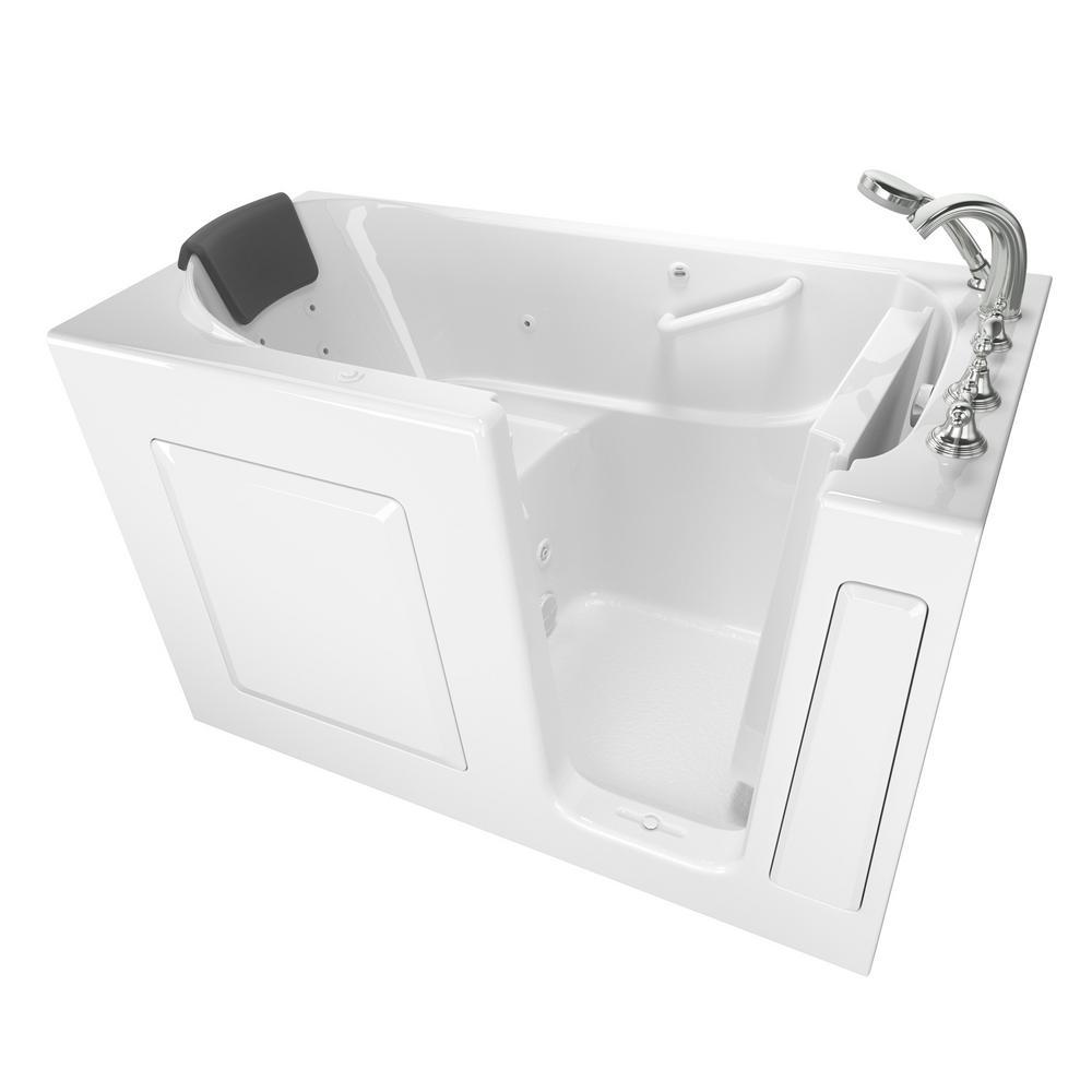 Gelcoat Premium Series 4.9 ft. Walk-In Whirlpool Bathtub in White