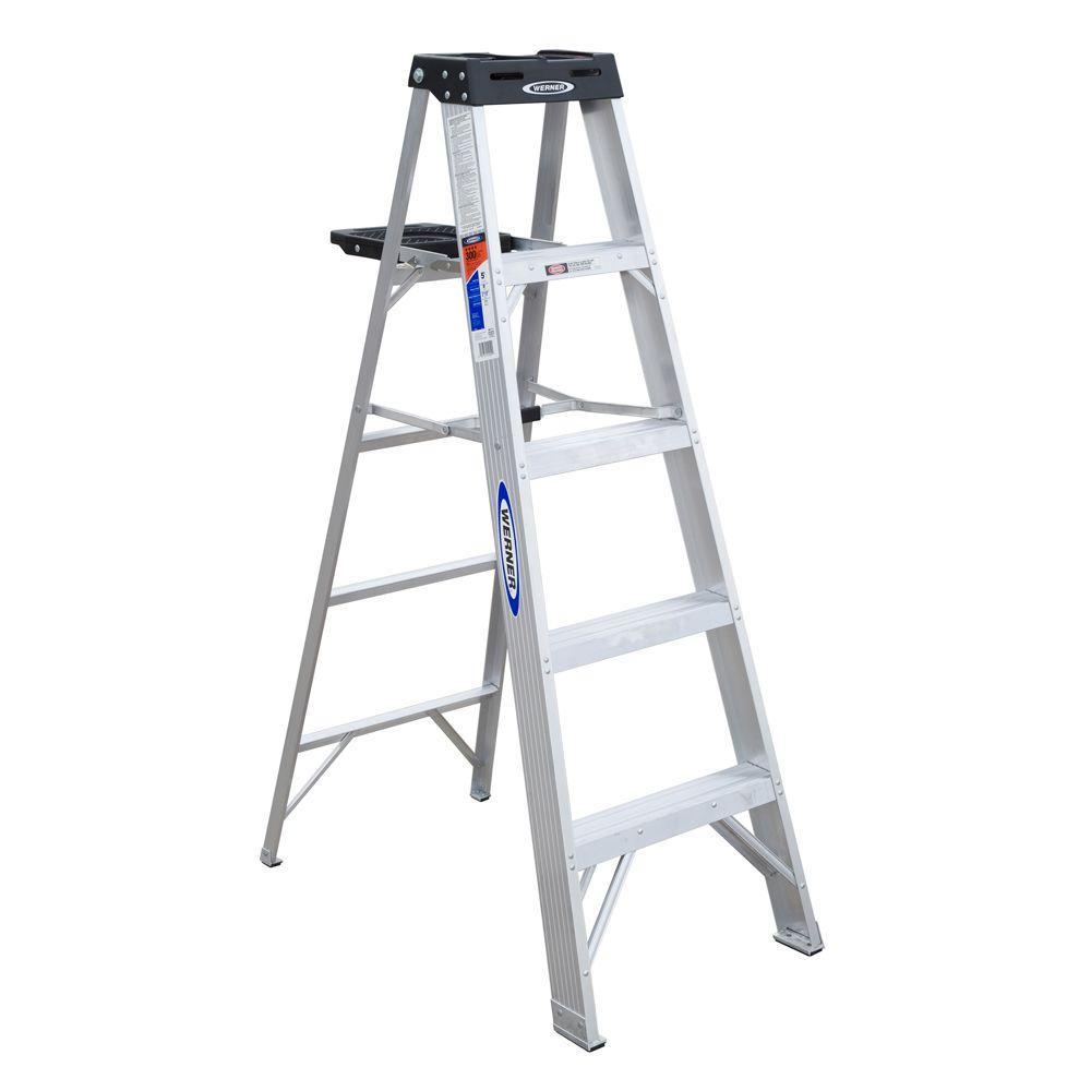 Aluminum platform step ladder with 300 lb load capacity for Ladder project