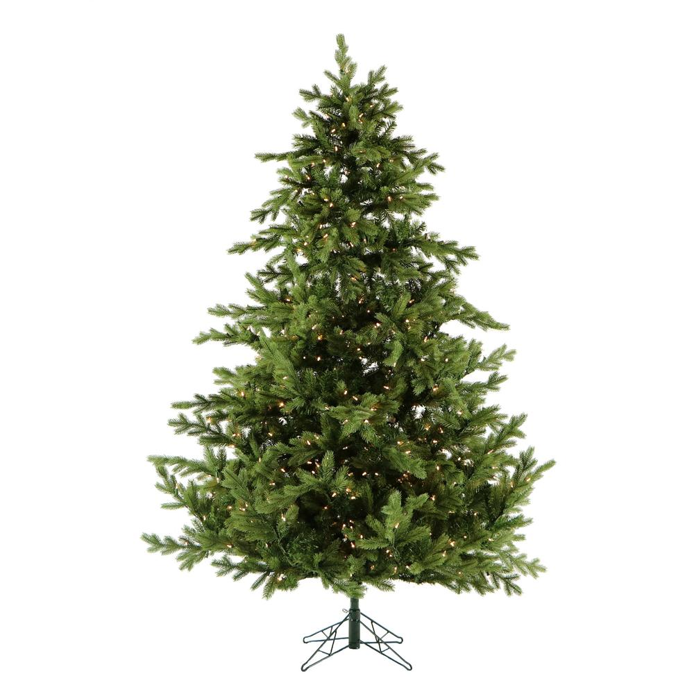 Fraser Hill Farm 9 ft. Pre-lit Foxtail Pine Artificial Christmas Tree with 1250 Clear Smart ...