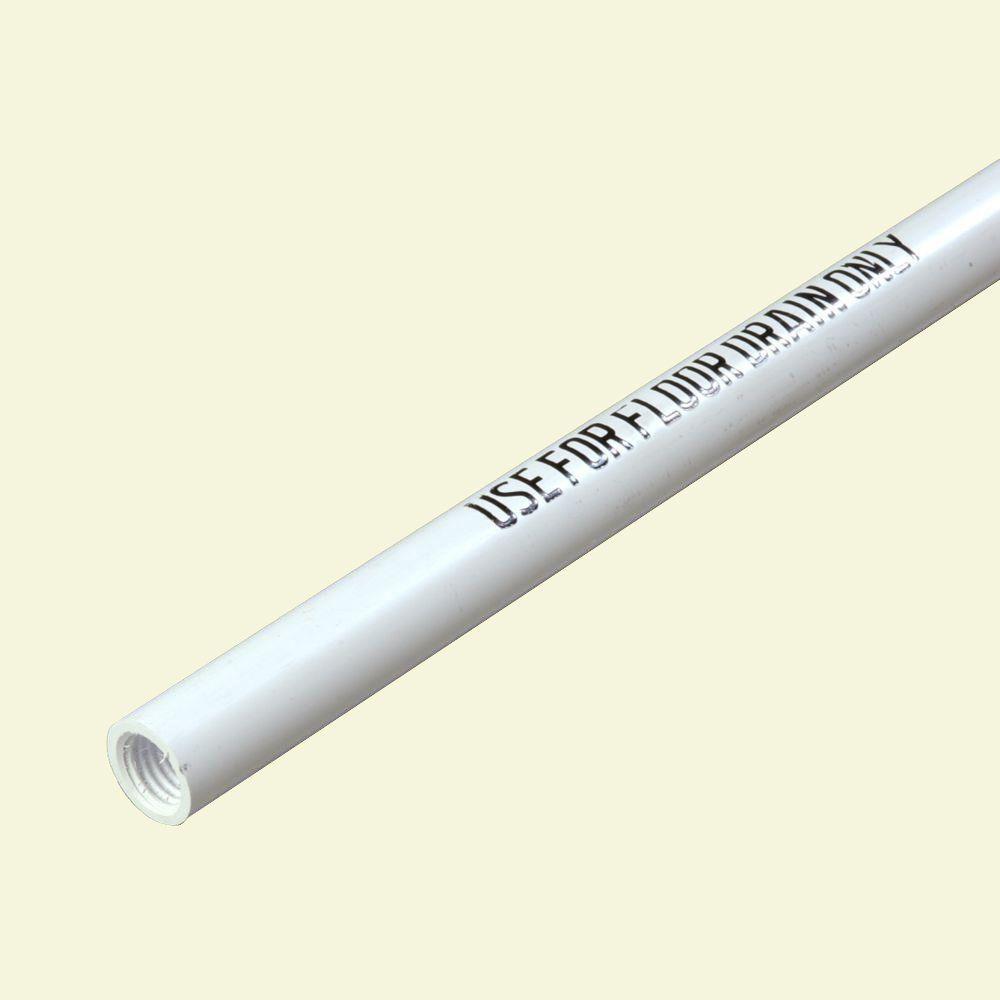 60 in. White Plastic Floor Drain Handle (Case of 12)