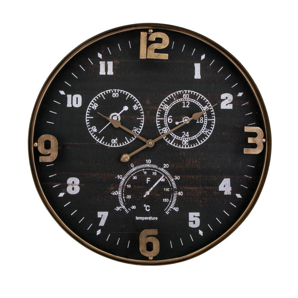 Clark Black Wall Clock