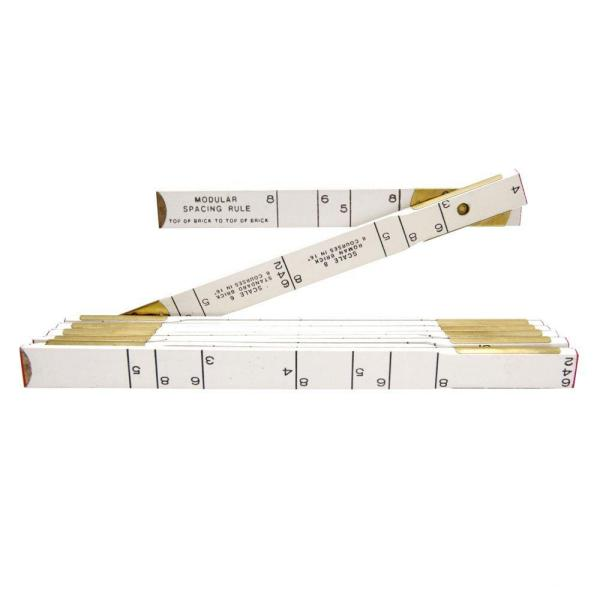 6 ft. x 5/8 in. Masonry Wood Ruler