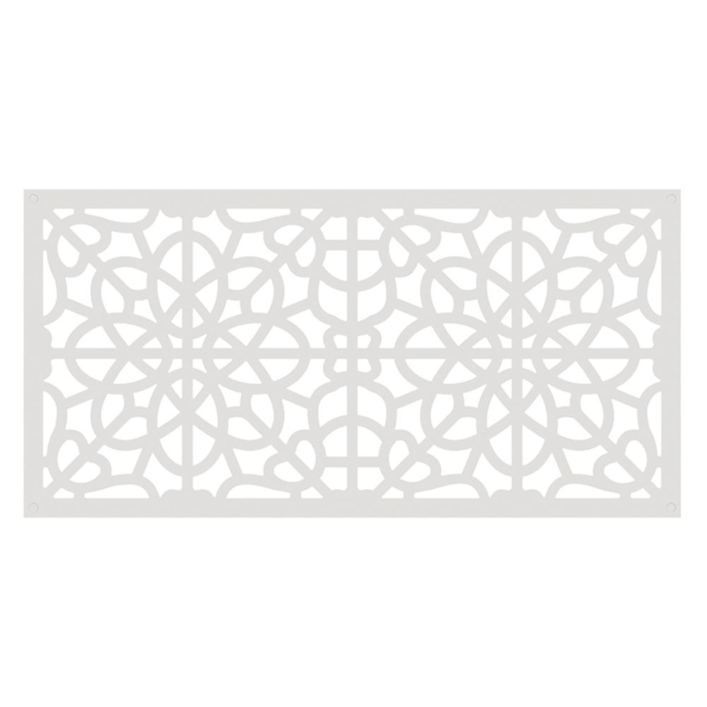 Tuffbilt 4 Ft X 2 Ft White Fretwork Polymer Decorative