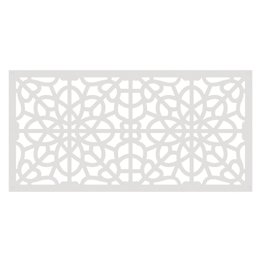 4 ft. x 2 ft. White Fretwork Polymer Decorative Screen Panel