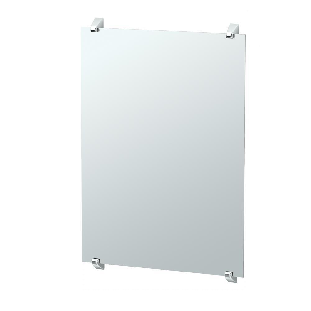 Gatco Quantra 32.25 in. x 22 in. Minimalist Frameless Mirror in Chrome