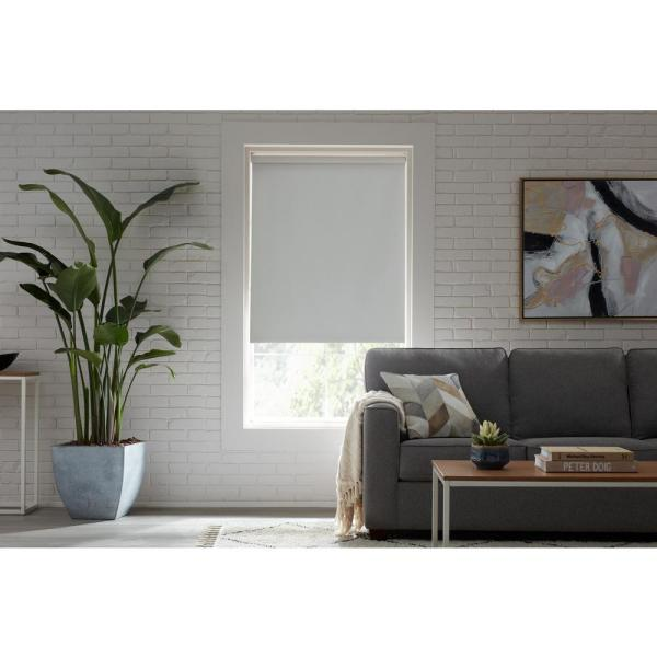 White Blackout Cordless Roller Shade 37.25 in. W x 78 in. L