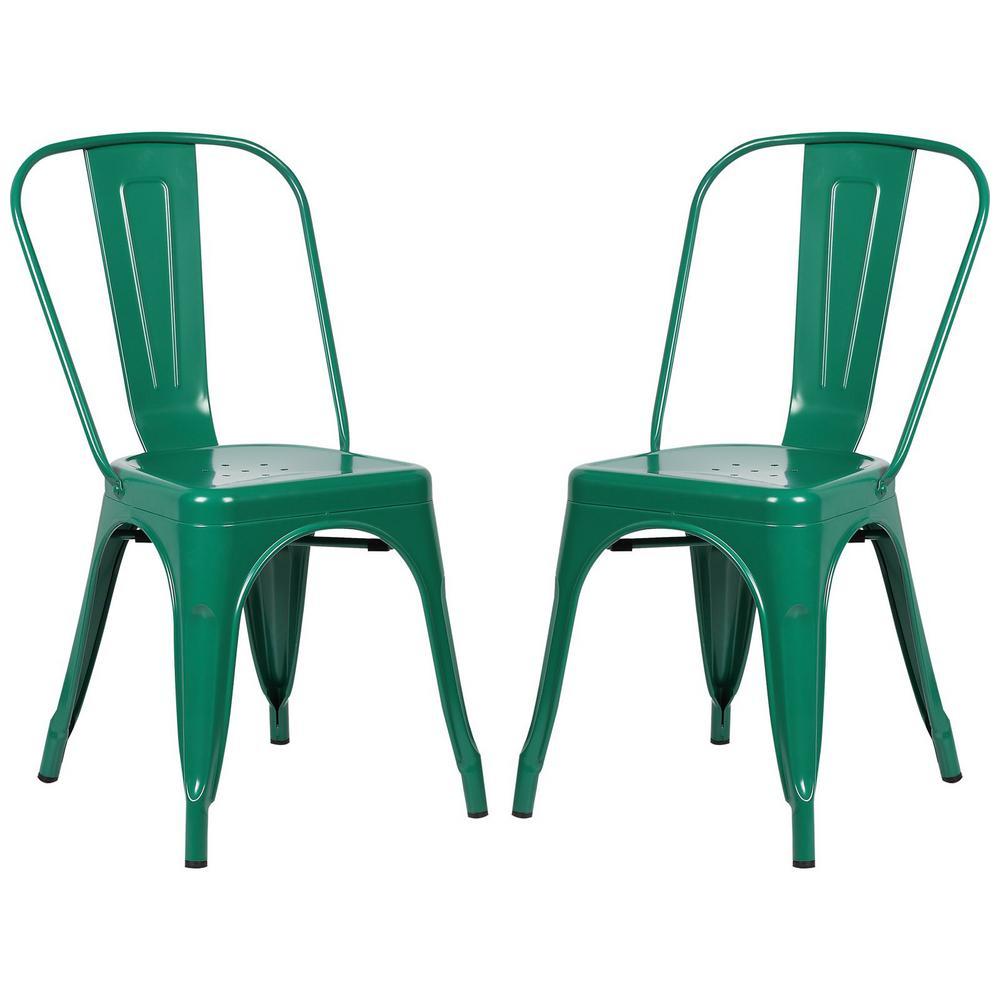 Trattoria Dark Green Side Chair (Set of 2)