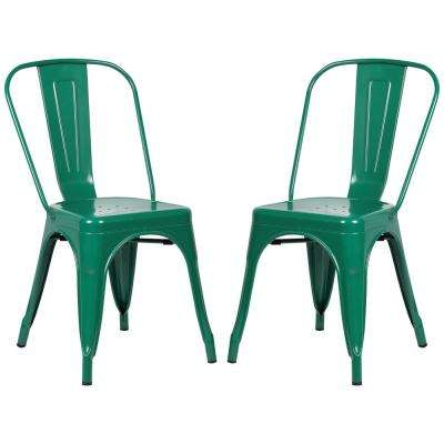 Trattoria Dark Green Side Chair (Set of 2)