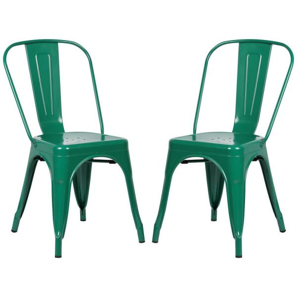 Poly and Bark Trattoria Dark Green Side Chair (Set of 2)