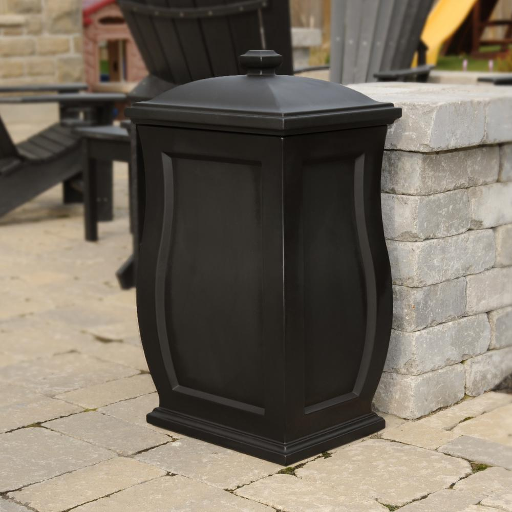 Mansfield 22 Gal. Black Trash Can/Storage Bin