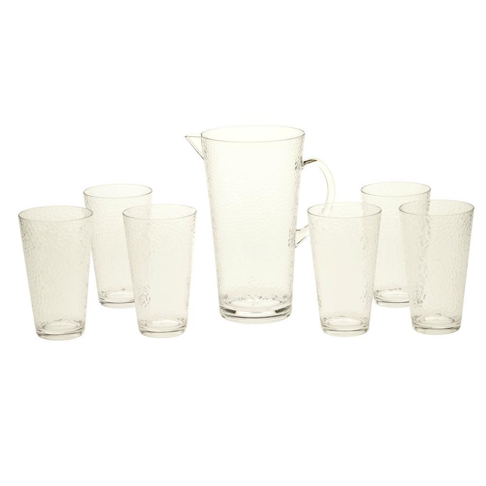 7-Piece Clear Drinkware Set