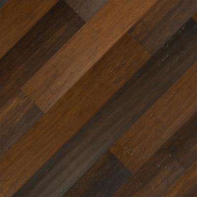 Take Home Sample - Strand Woven Charleston Click Lock SPC WR Bamboo Flooring - 5 in. x 7 in.