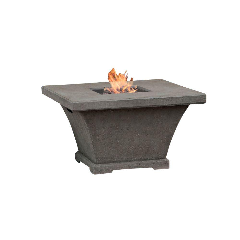 Monaco 42 in. Square Propane Gas Fire Pit in Glacier Gray